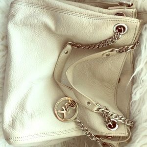 Cream Michael Kors Hobo